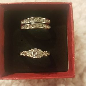3 pc ring sent Cz silver